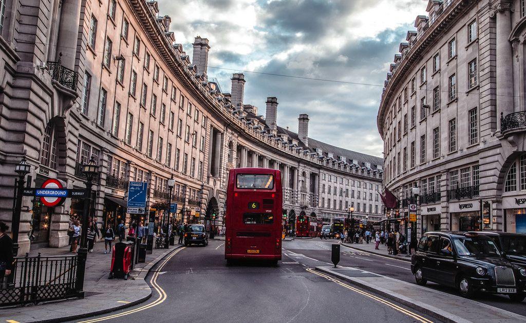 Passing by Regent Street, London