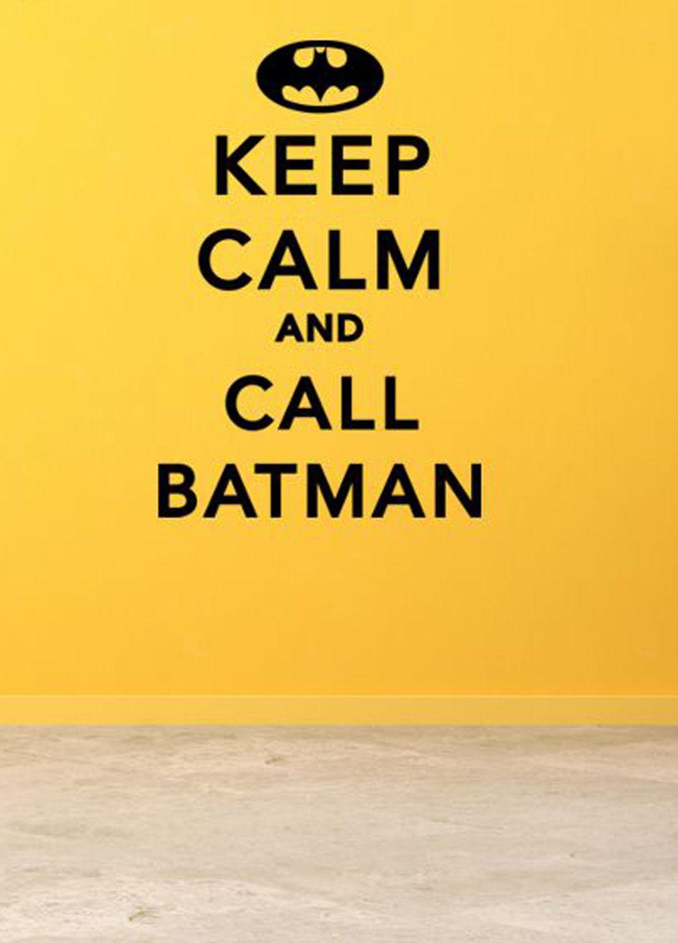Keep Calm And Call Batman wall art on livingExclusive Love it ...