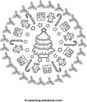 christmas mandala coloring page parentingleehansencom