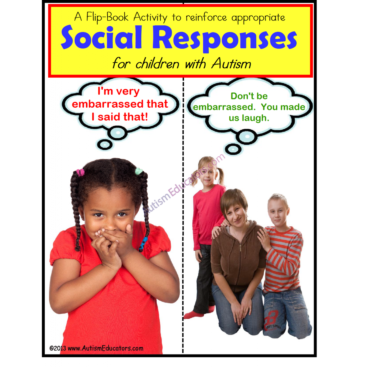 Autism Social Situations And Responses Activity Flip Book Special Education