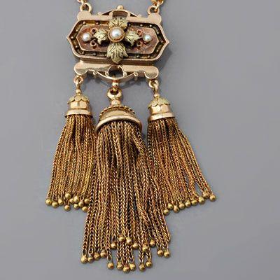 Antique Victorian Tassel Necklace