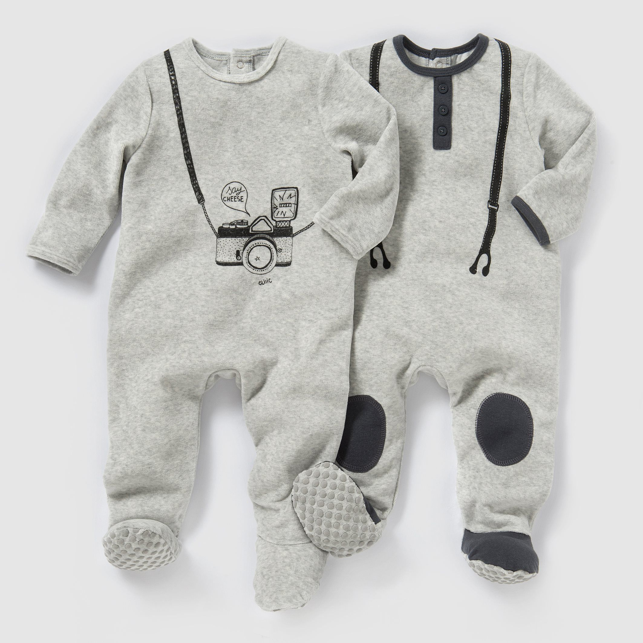 7bed262b8aab6 Pyjama velours (lot de 2) 0 mois-3 ans R Mini