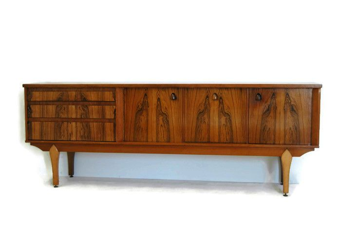 Superb Rosewood And Teak Mid Century Modern Credenza, Media Console Or Storage  Cabinet