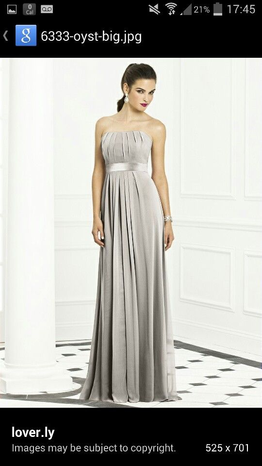 Oyster bridesmaid dress