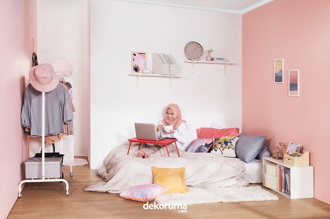 Cat Kamar Warna Pink Muda