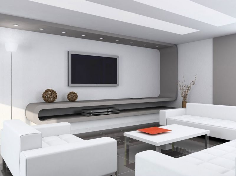 Simple color schemes for modern living room decor house for Simple modern living room