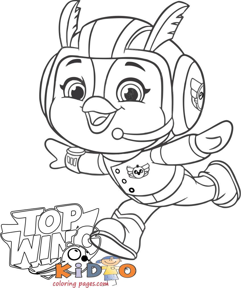 Penny Coloring In Sheet Top Wing To Printable Kids Coloring Pages Coloring Pages Coloring For Kids Printables Kids