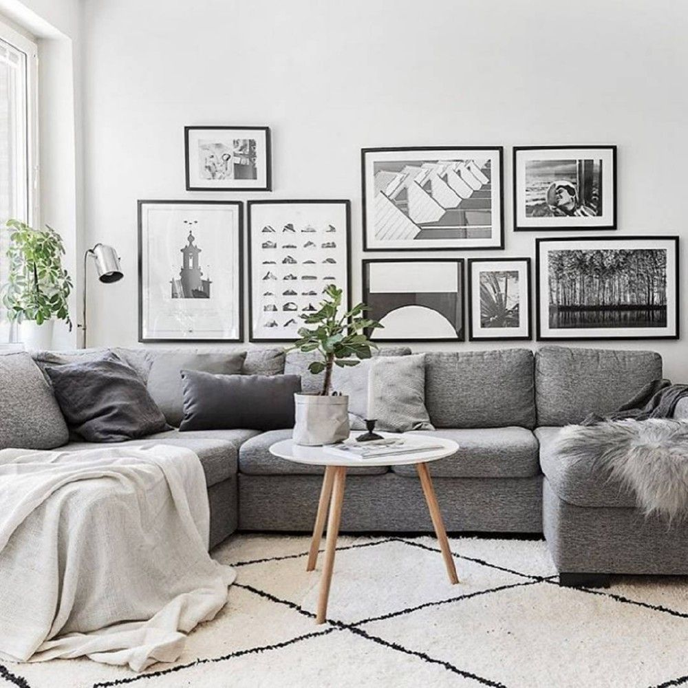 35 inspiring scandinavian living room design for Grey living room inspiration