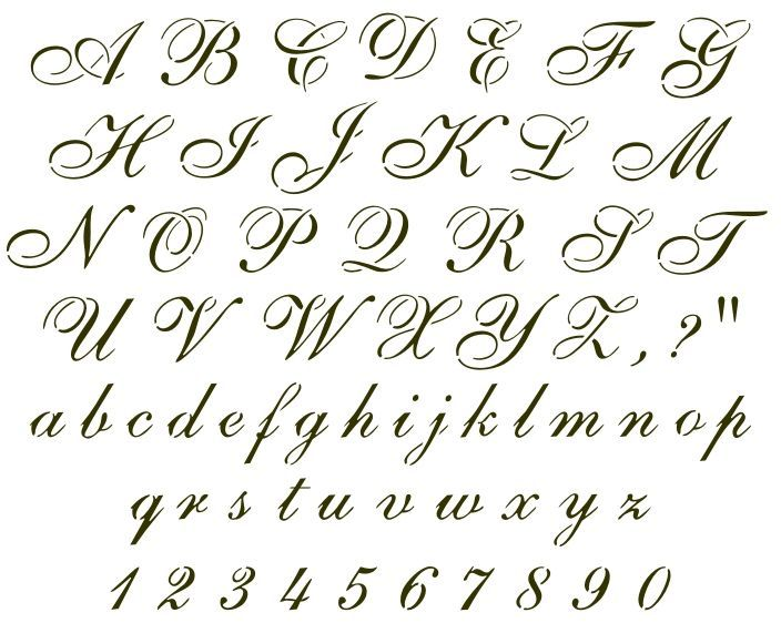Answers Individual Stencil Fancywhimsical Cursive Letters View