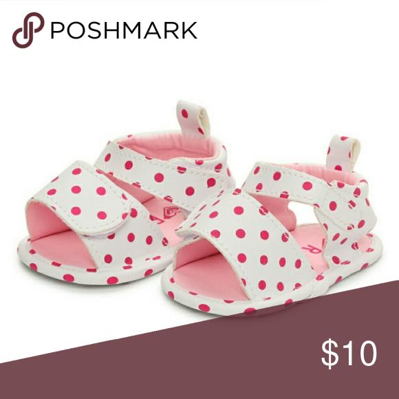 Roxy Girls Strappy Sandals (0-6 Months, Polka Dot)