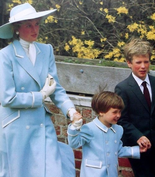 Diana and William with Peter Philips (1st cousin to Wills)