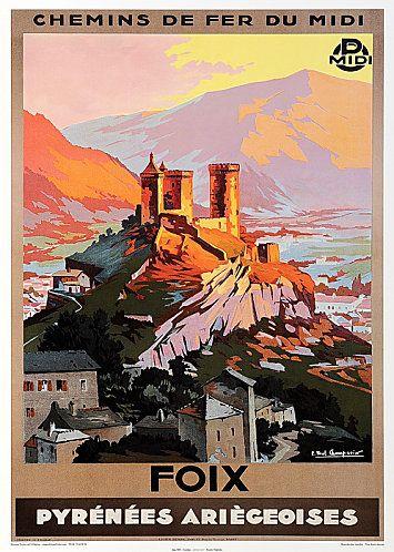 Cette affiche est en vente l 39 office de tourisme de foix railway typography and design - Office de tourisme de foix ...