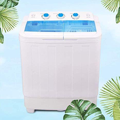 Mini Portable Compact Washing Machine 17 Lbs Twin Tub Laundry