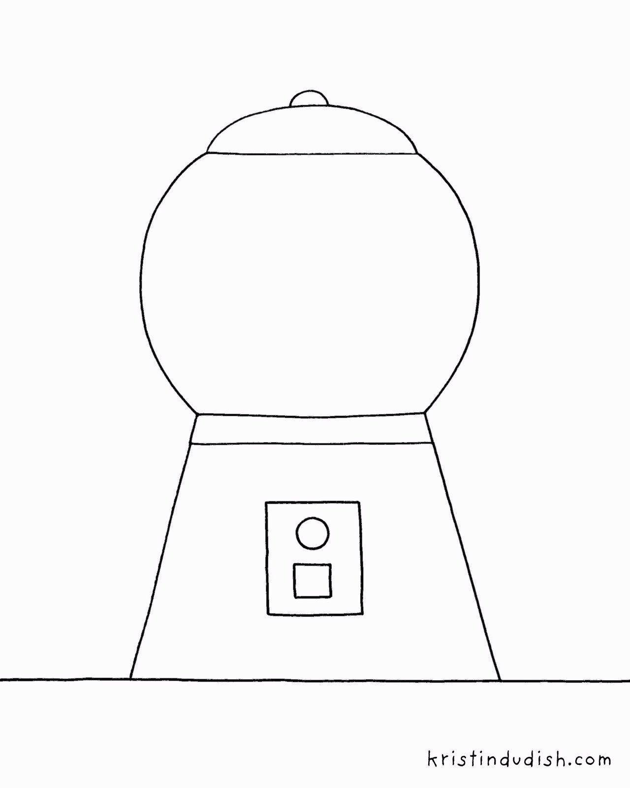 Gumball Machine Coloring Page Candy Coloring Pages Free Coloring Pages Pop Art Coloring Pages