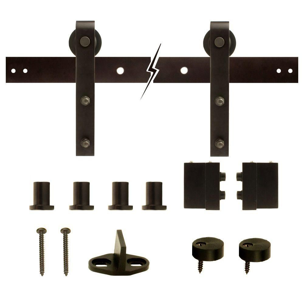 Everbilt Dark Oil-Rubbed Bronze Decorative Sliding Door Hardware-14445 -  The Home Depot - Everbilt Dark Oil-Rubbed Bronze Decorative Sliding Door Hardware
