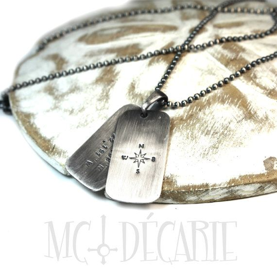 2 Personalized dog tags necklace two army ID tag with von MCDecarie