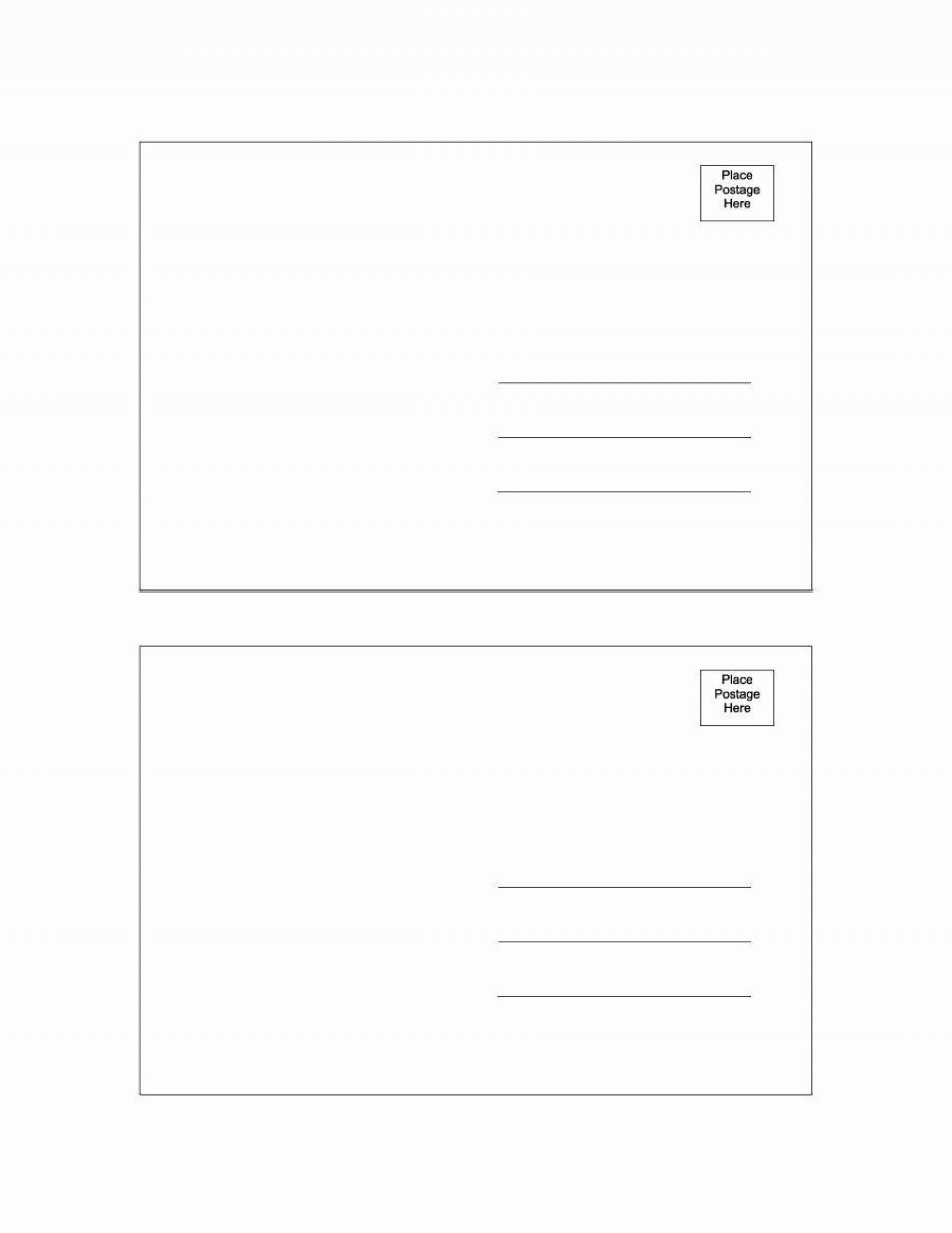 5x7 Folded Card Template For Word In 2021 Postcard Template Free Postcard Template Postcard Template Business