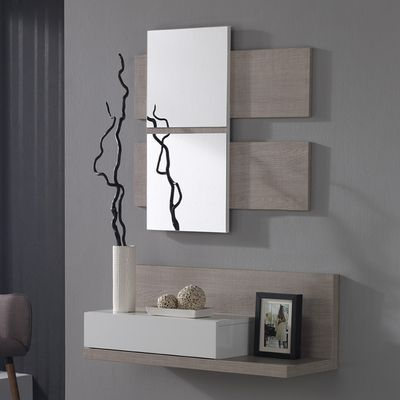 Discover the entrance cabinet with VERATY contemporary mirror with 1 drawer, ideal for ...