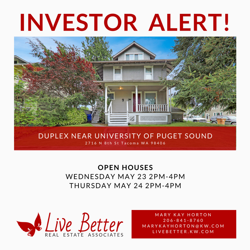 INVESTOR ALERT! Excellent opportunity to own duplex with
