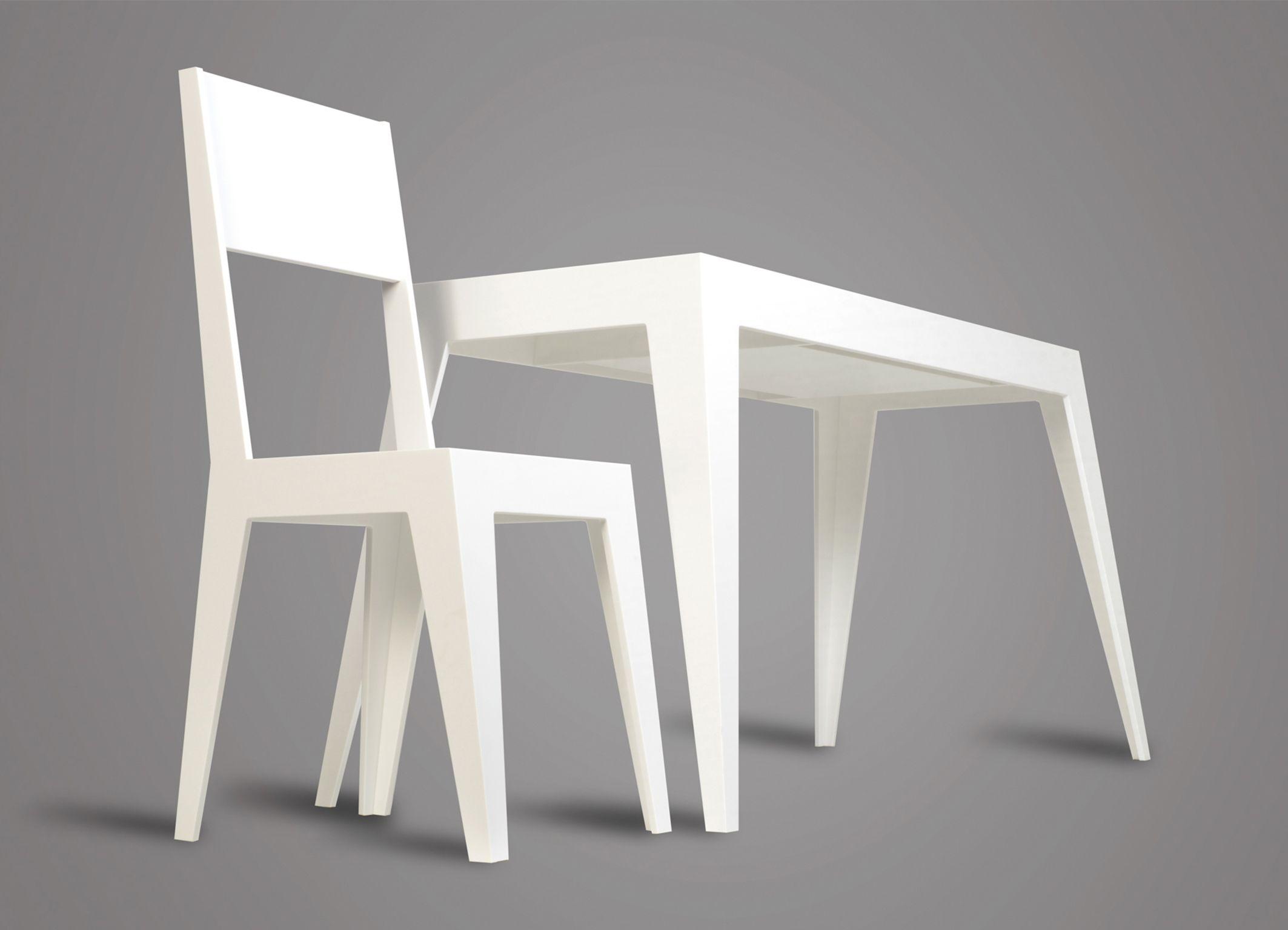 """Bureau """"simplicité"""" en Planacryl par Julien Lachaud ébéniste créateur"""