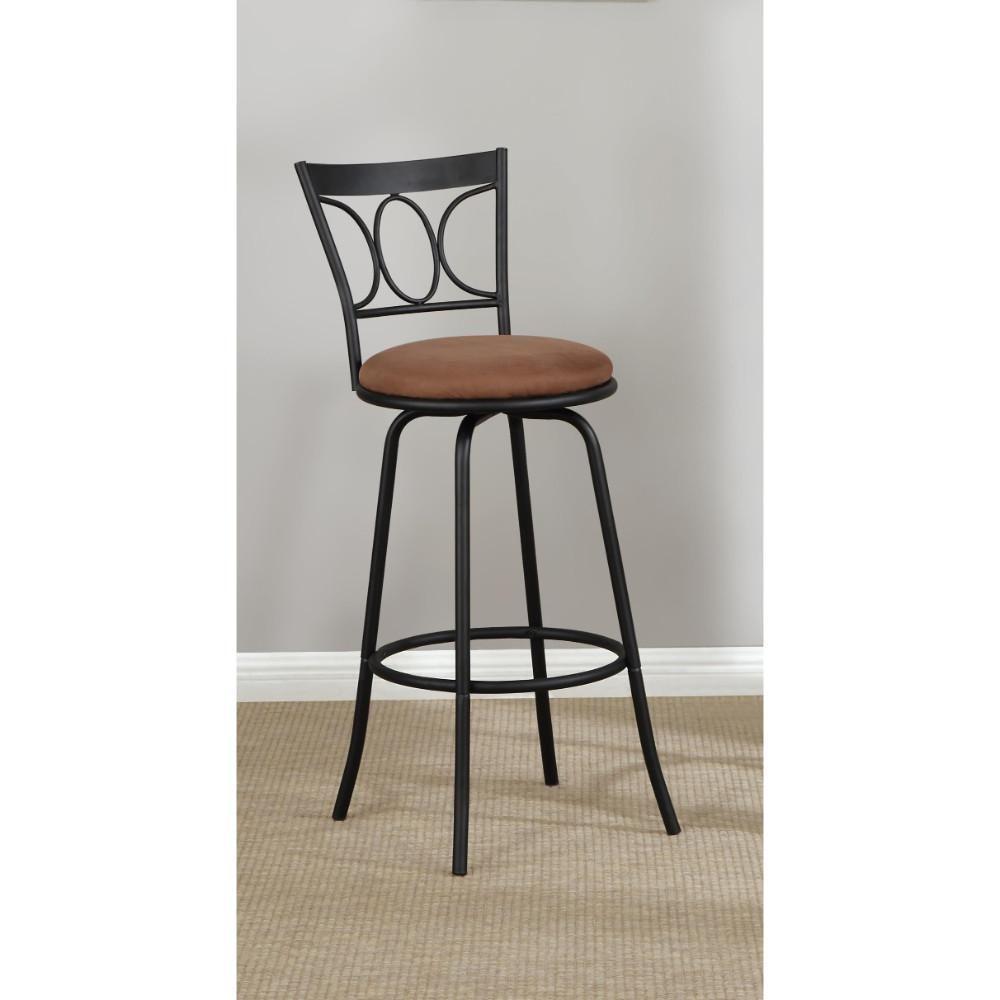 Fantastic Slenderly Modern Metal Microfiber Cushion Swivel Barstool Dailytribune Chair Design For Home Dailytribuneorg