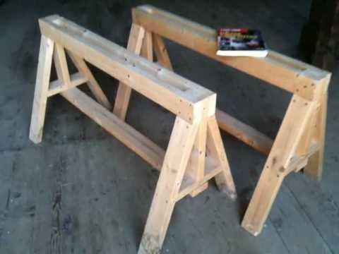 Diy Saw Horse Out Of Pallets Wood Pallet Projects Woodworking Workshop Wood Pallets