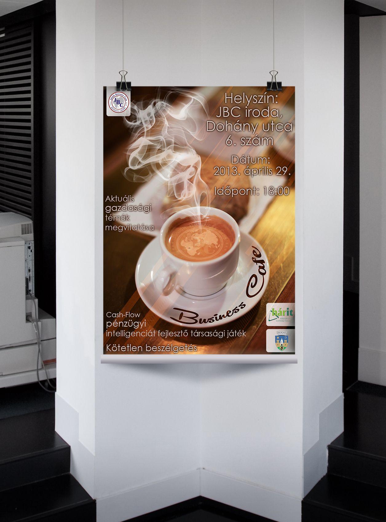Business Cafe Event Poster for Junior Business Club