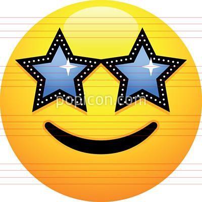 Star Struck Face Emoji Emoji Emoji Symbols Pictograph