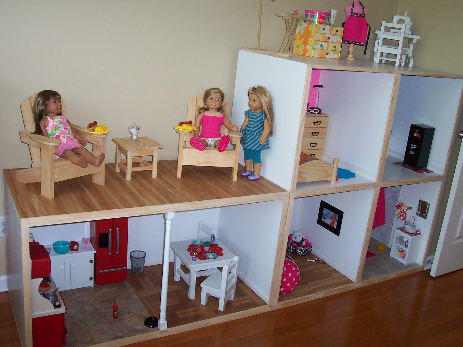 Diy american girl doll furniture - Gigi S Doll And Craft Creations American Girl Doll House Custom Built
