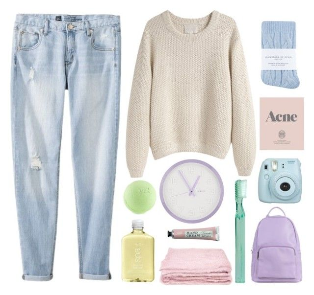 """""""Pastel"""" by spn-grace ❤ liked on Polyvore featuring Mossimo, La Garçonne Moderne, DecoMates, Supersmile, Johnstons, SPURR, Prada, abcDNA and H2O+"""