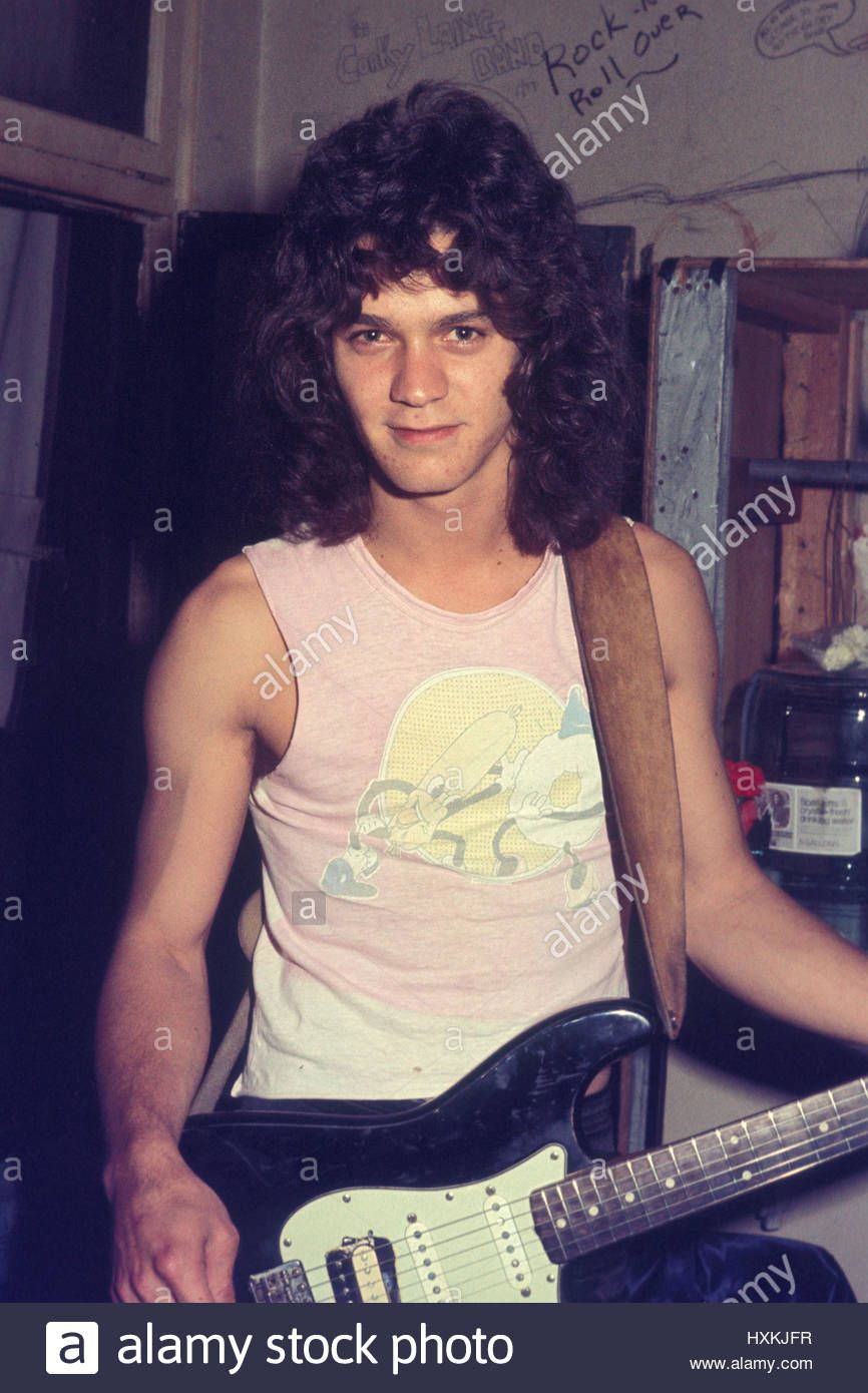 Download This Stock Image Extremely Rare Photos Of Eddie Van Halen Of Van Halen Back In The Club Days Photographed In Their D Eddie Van Halen Van Halen Halen
