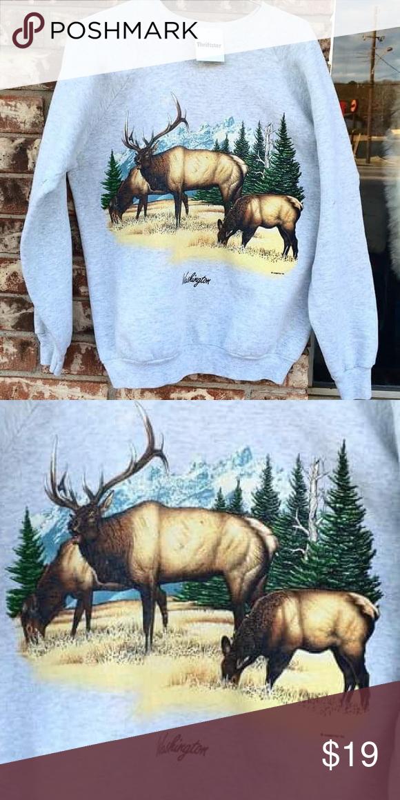 Vintage 1991 Washington nature sweatshirt Great vintage condition ! Large Vintage Tops Sweatshirts & Hoodies