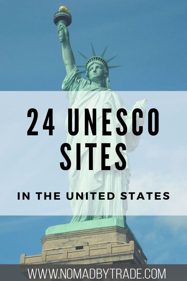 There are 24 UNESCO World Heritage Sites in the United States recognizing cultural and natural heritage. Several US National Parks and native cultures are recognized. Including several things to do in New Mexico, Yellowstone, Yosemite, the Statue of Liberty, Everglades, Smoky Mountains, and more! #NationalPark #USA #travel #wanderlust #unesco #NewMexico #Pennsylvania #Louisiana #Alaska #Hawaii #California