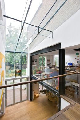 Trombe Contemporary Modern Conservatories And Conservatory Design London Structural Glazing Shed Roof Design Glass Roof Steel Frame House