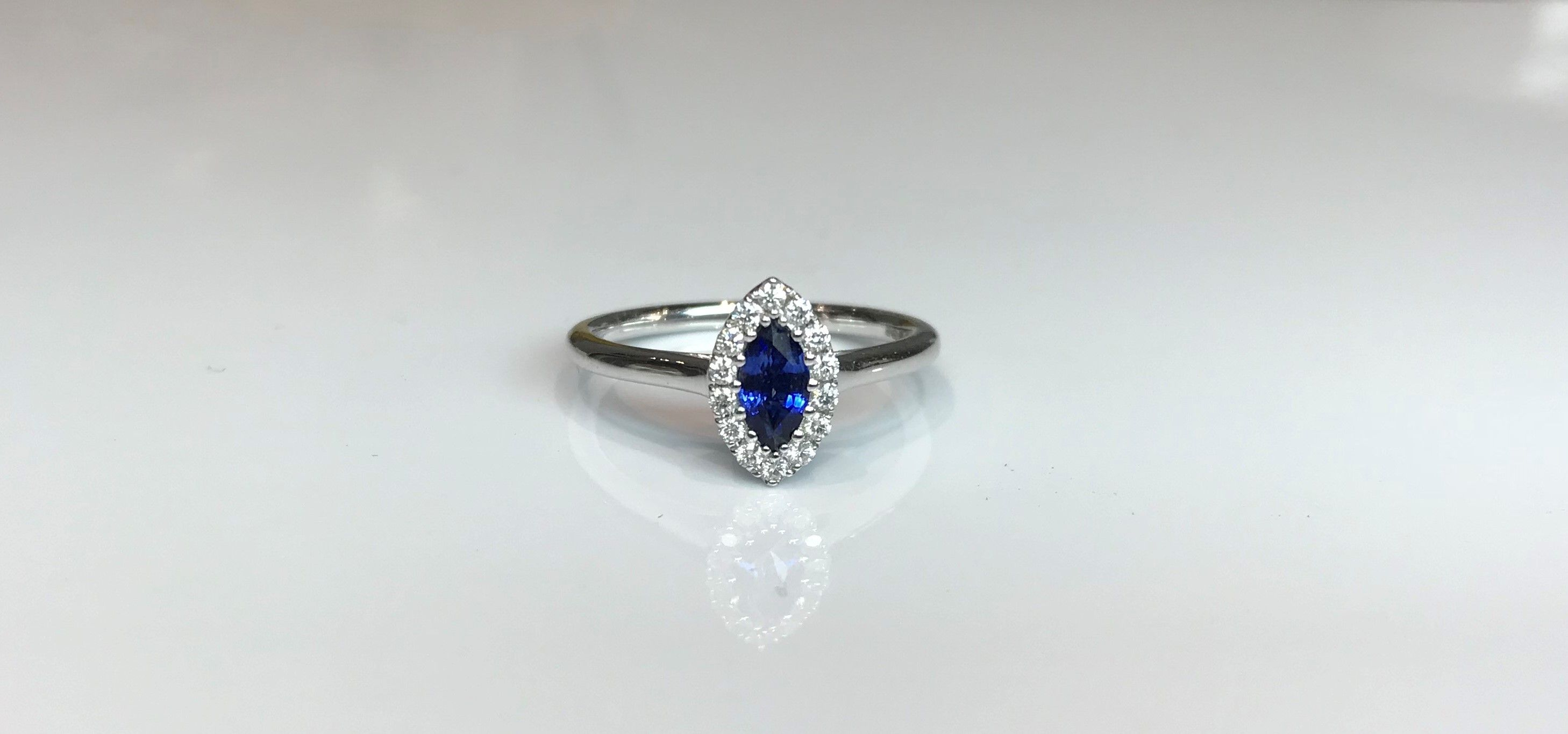 property diamond ctw squared l room ring gold sapphire blue size white marquise