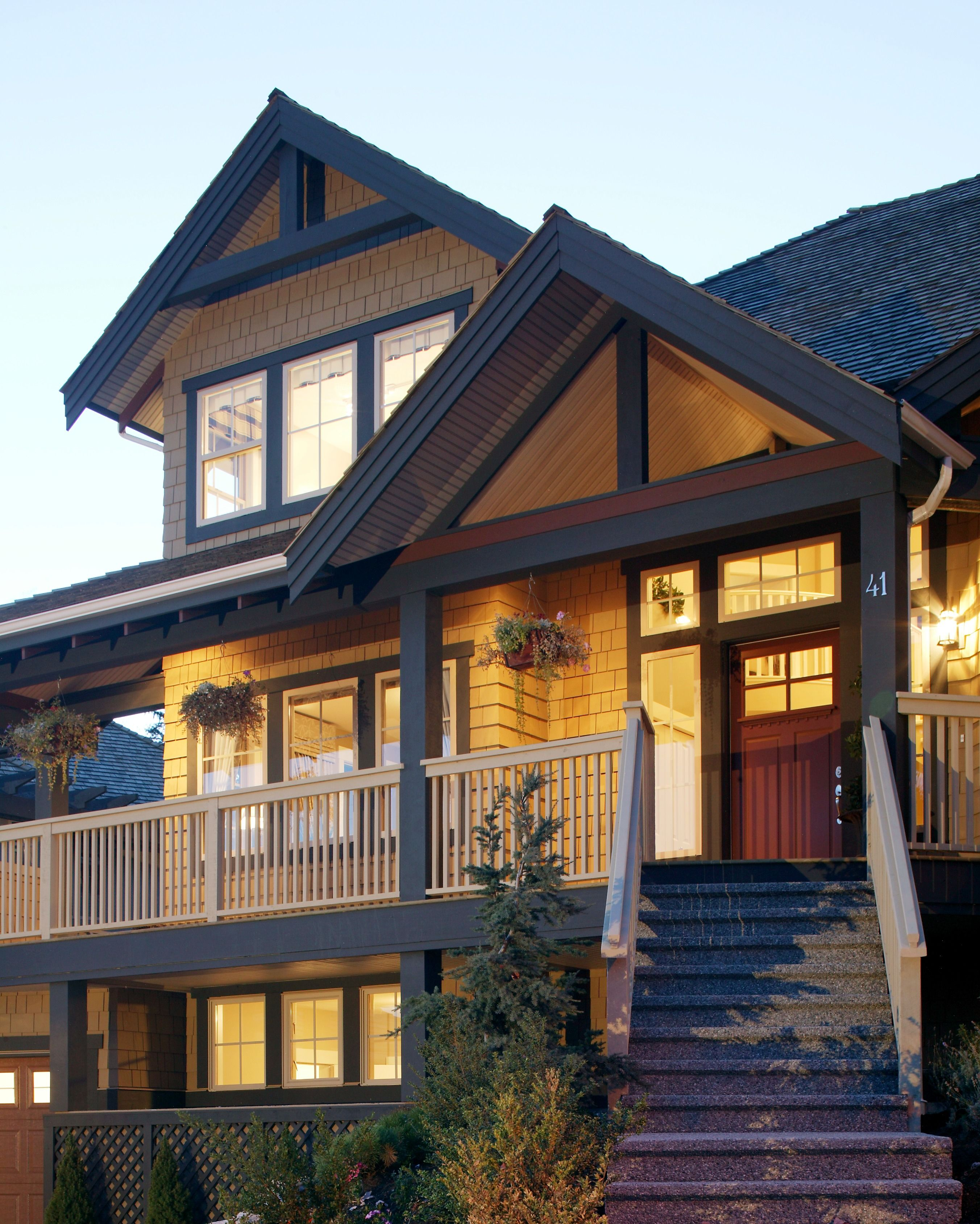 Three-story Home With A Very Large Porch, Wood Shingle