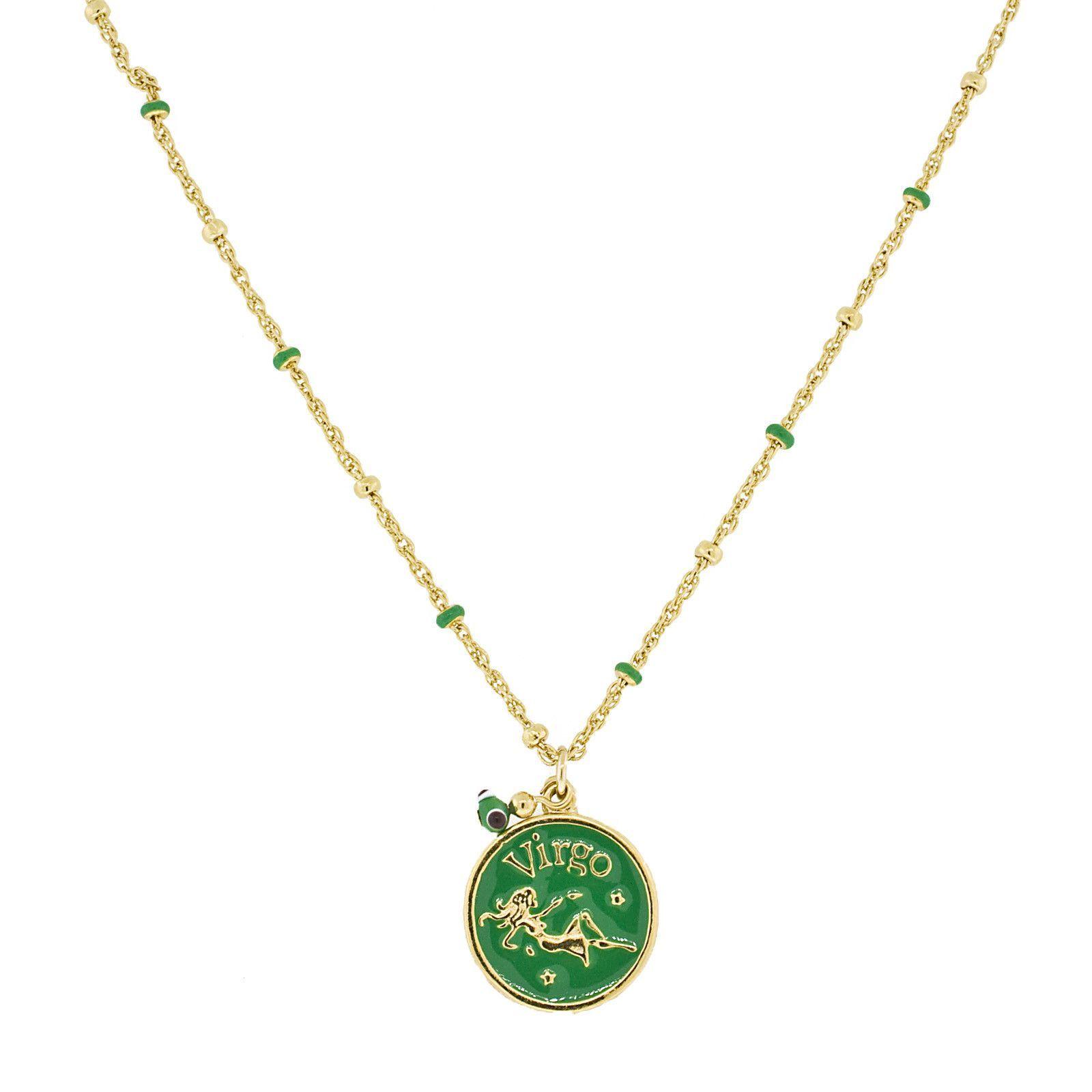 Blee Inara Enamel Horoscope Necklace - Virgo