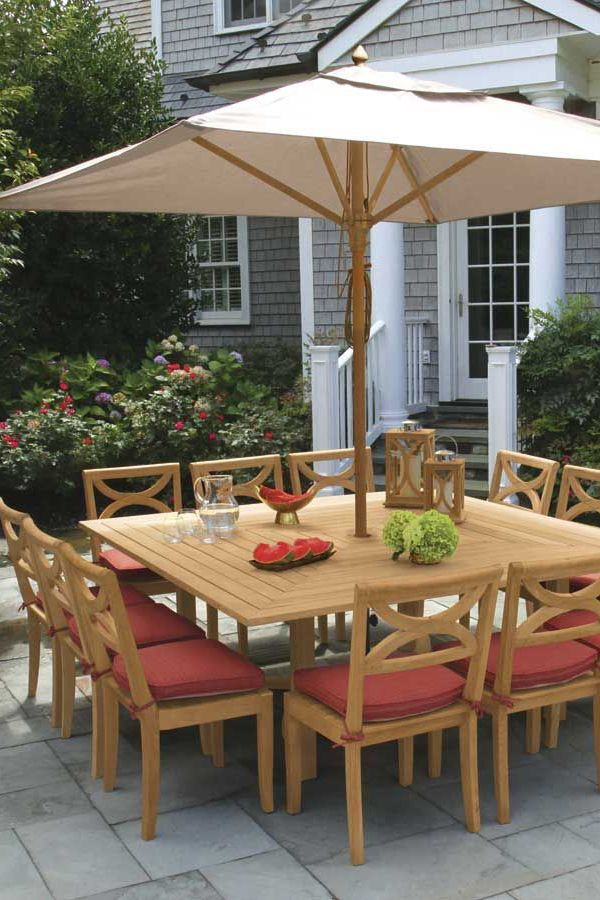 Teak Patio Furniture The Perfect Choice For Furnishing Your Deck Porch Or Patio Backyard Dining Outdoor Patio Decor Backyard Dining Table