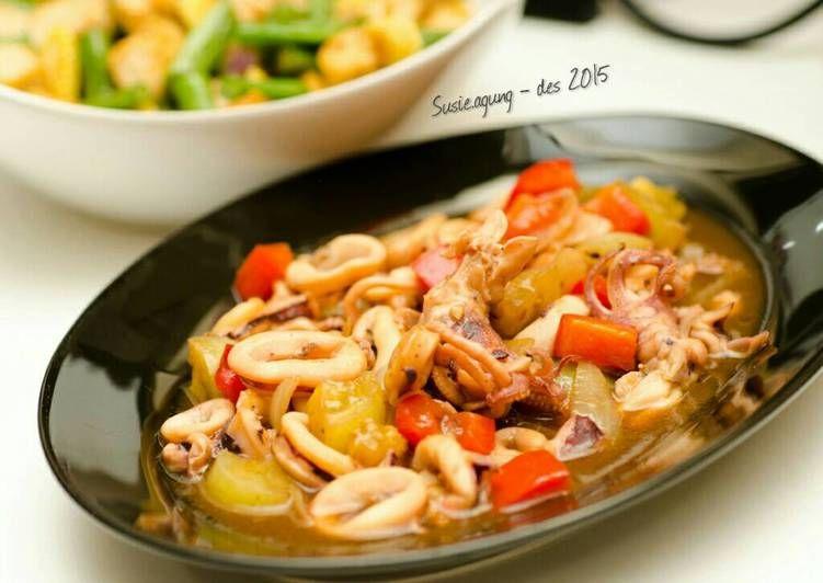 Resep Tumis Cumi Sedap Oleh Susi Agung Resep Resep Seafood Tumis Makanan