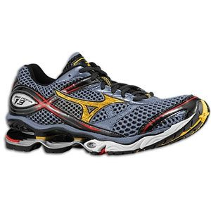 reputable site e3bb9 a4868 Mizuno Wave Creation 13 - Mens - Folkstone Grey Specte Yellow Chinese Red