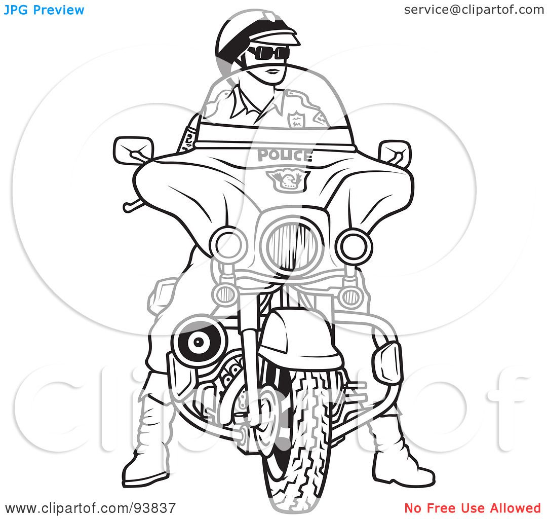 police coloring pages free printable pictures