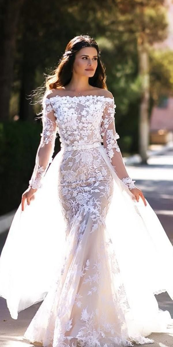 7dc48ee5ce78 24 Gorgeous Spring Wedding Dresses ❤ spring wedding dresses fit and flare  off the shoulder