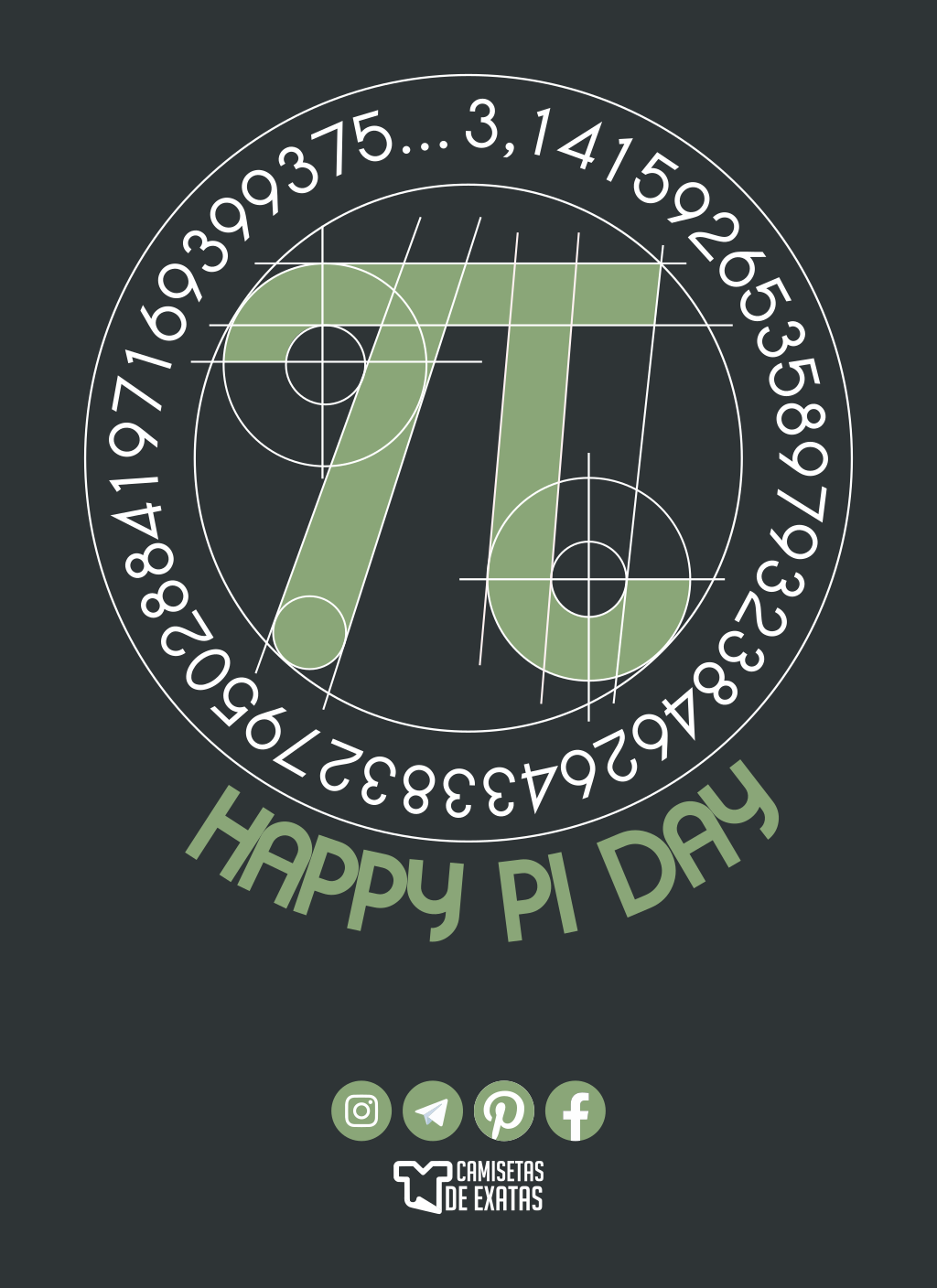 Happy Pi Day 2020 Em 2020 Feliz Dia Do Pi Dia Do Pi Matematica