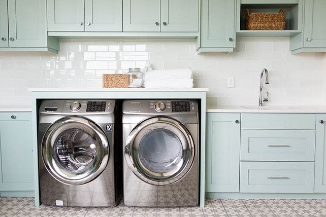 Coastal Blue Laundry Room Design Home