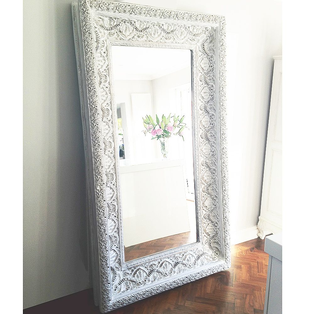 White Floor Mirror Ibiza Free Standing Mirror My Dream Home Everything In It