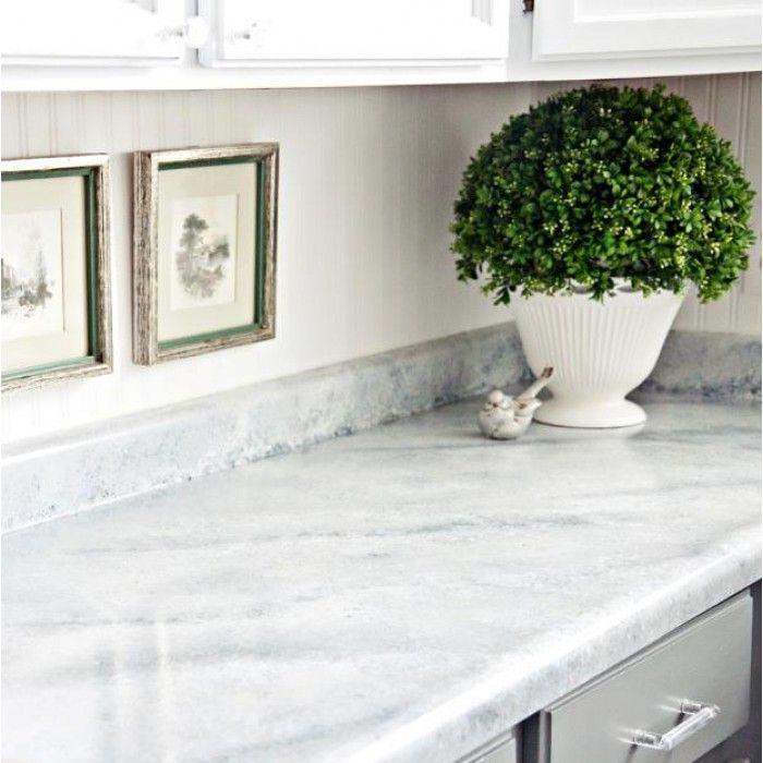Giani Countertop Paint: White Diamond Marble Application