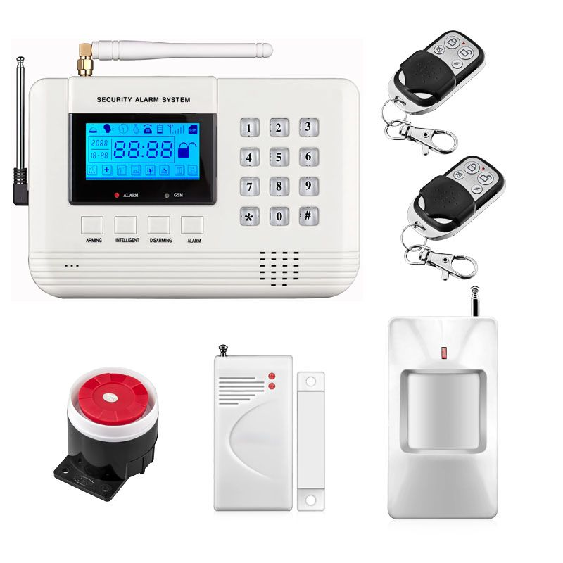 Dual Network Wireless Lcd Gsm Pstn Home Alarm Security Diy House Burglar 433mhz English