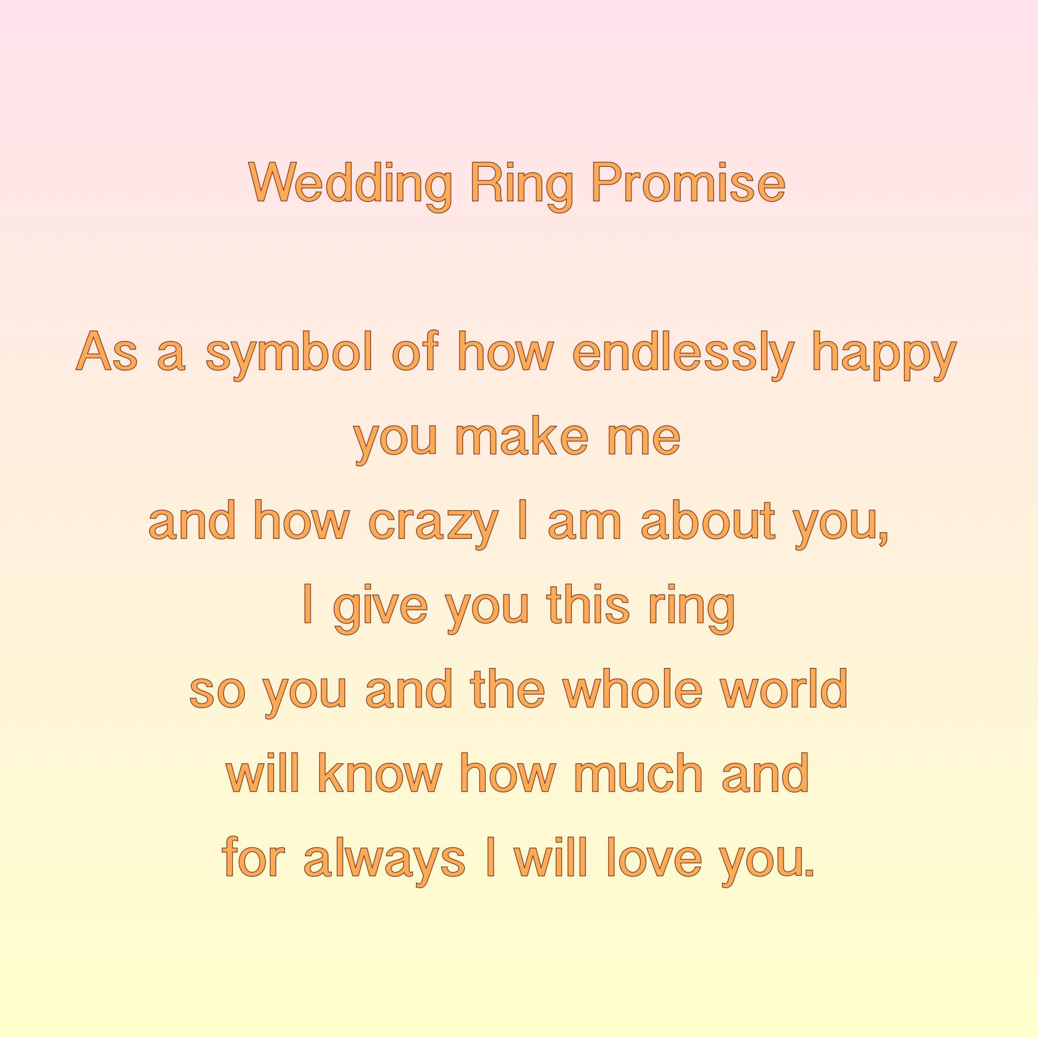 Wedding Ring Exchange Wedding ceremony rings, Ring