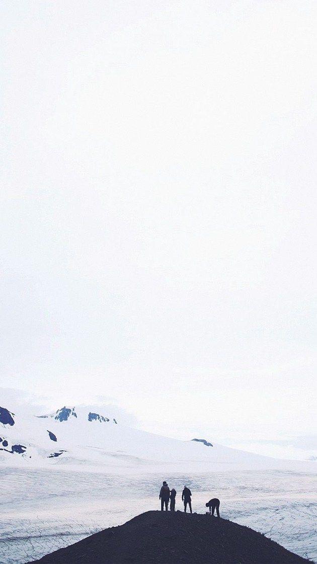 雪山のてっぺん iPhone壁紙 Wallpaper Backgrounds iPhone6/6S and Plus  Snow Mountain