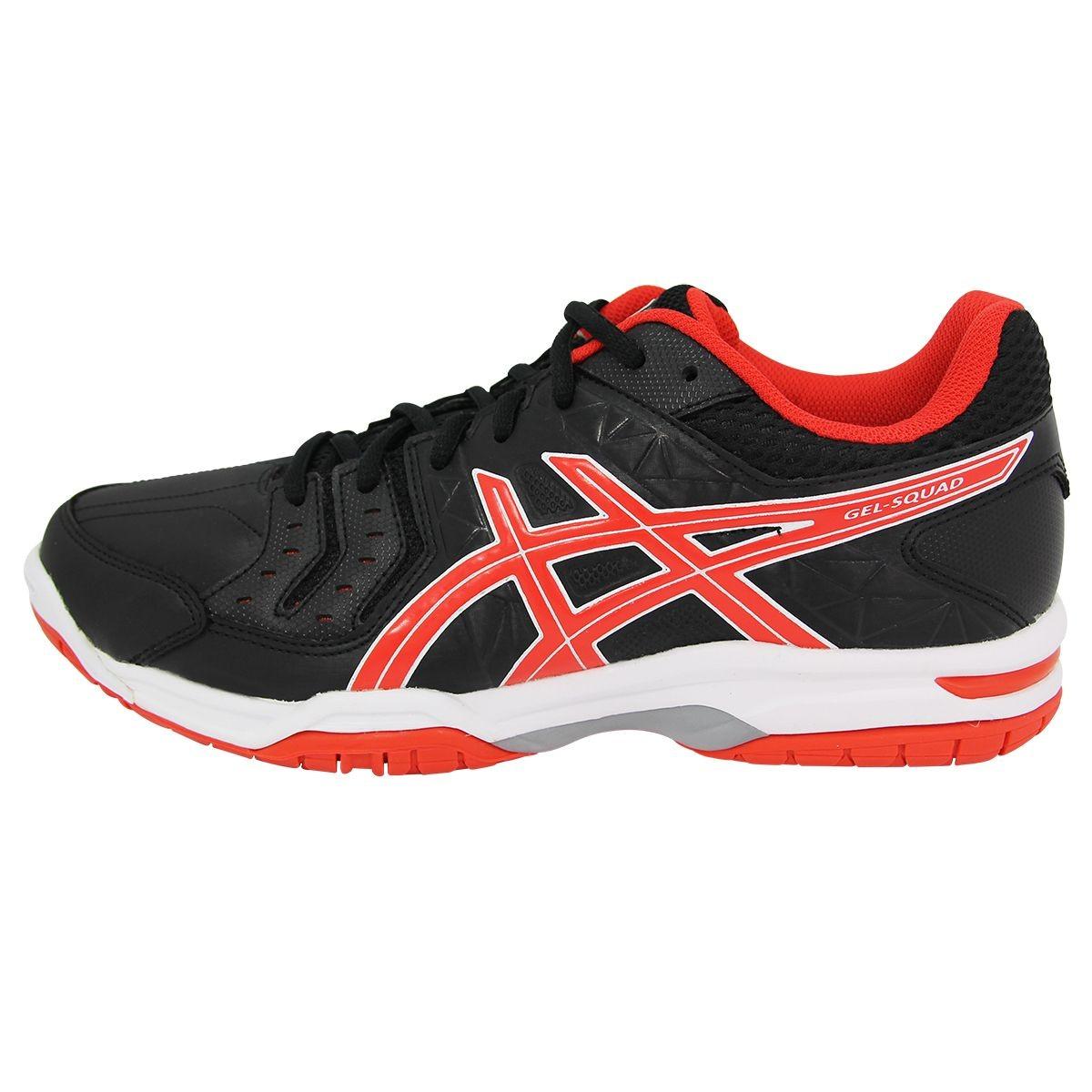 Chaussures de handball adulte Asics Gel Squad bleu et orange 20172018 avis test